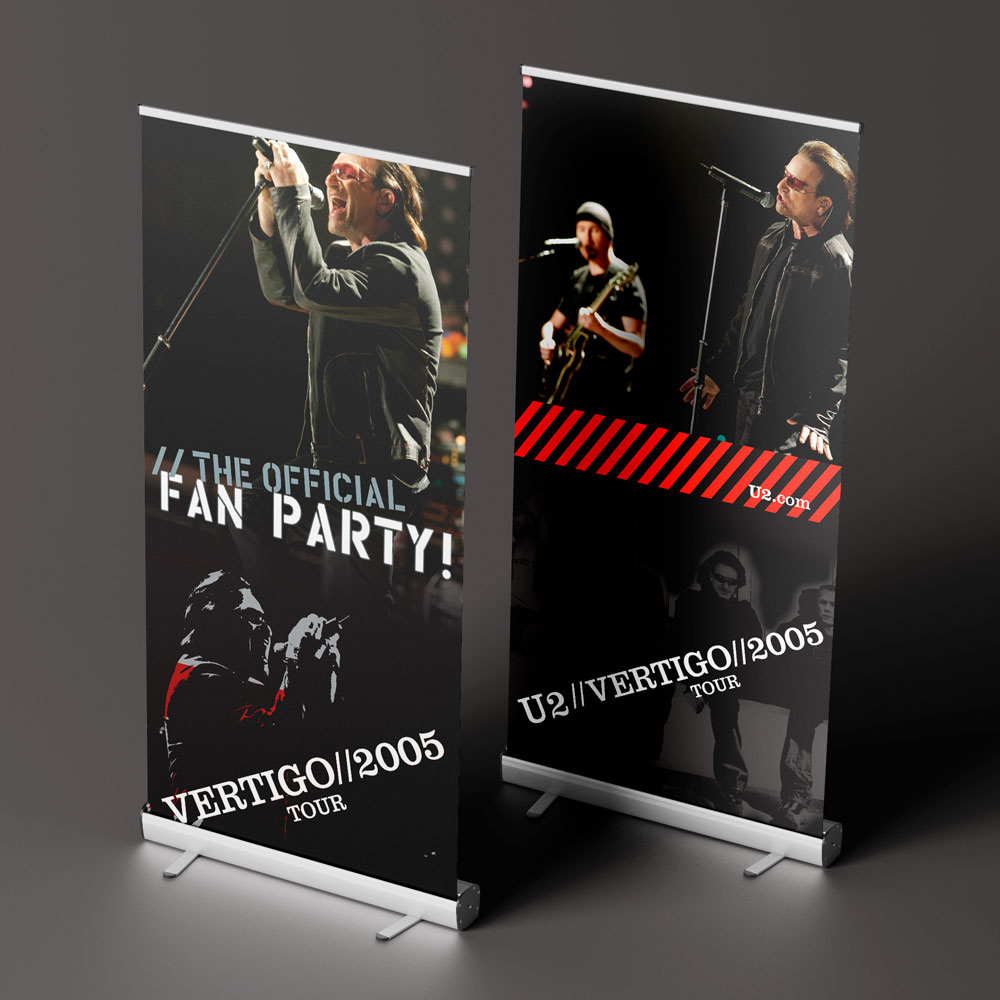 U2 Promotional Banners