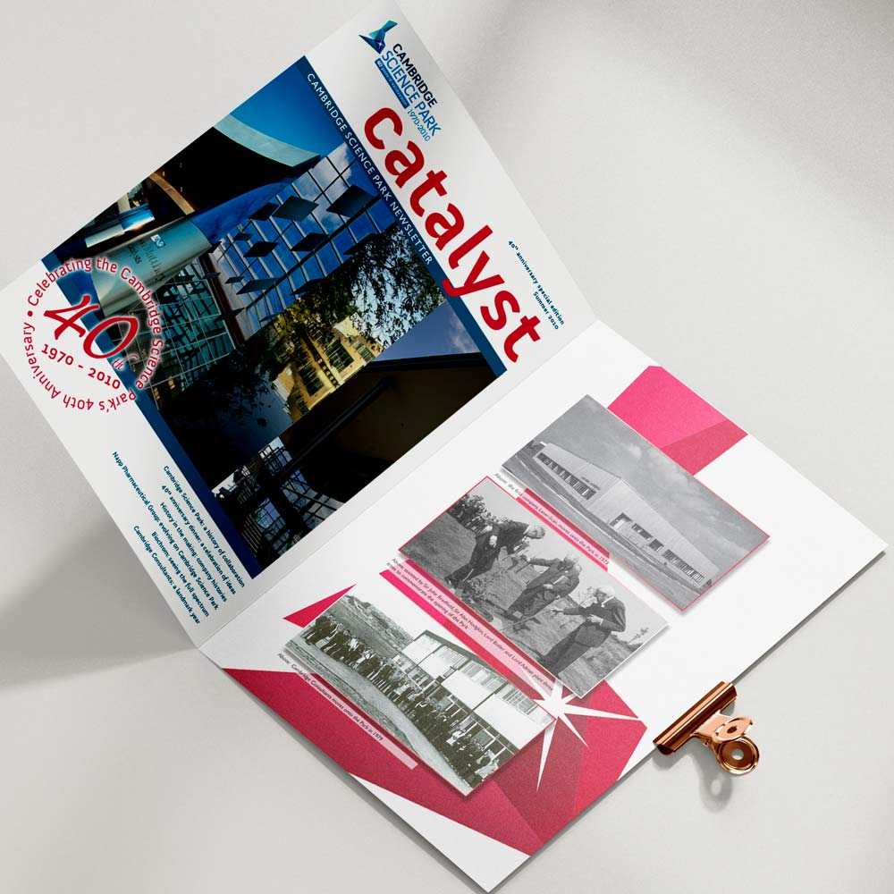 Cambridge Science Park magazine design and layout