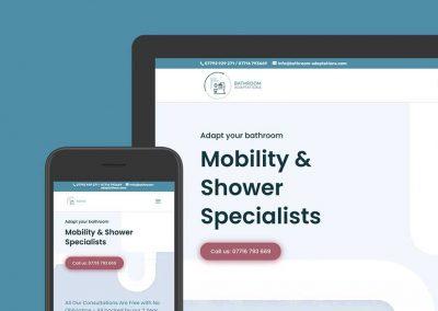 Bathroom Adaptation website design