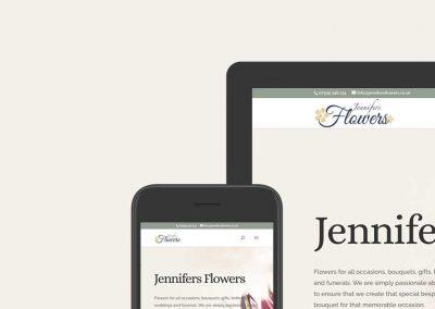 Jennifers Flowers ecommerce website